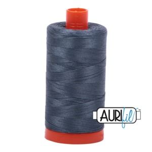 Aurifil Cotton 1158 50wt 1422 yds Med Grey