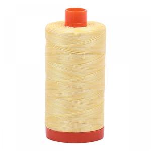 Aurifil Cotton 3910 50wt 1422 yds Variegated Lemon Ice