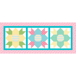 """Riley Blake 2019 Table Runner Kit of the Month Program - May Blossoms - 18"""" x 44"""""""