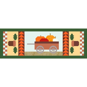 """Riley Blake TR19-12 Give Thanks, 2019 Table Runner Kit of the Month Program - Give Thanks - 16"""" x 42"""""""