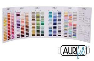 92789: Aurifil CC-WI0028 Real Thread Egyptian Cotton Mako 50wt Color Chart 285 Colors