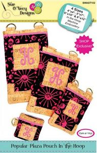 Sue O'Very Designs SWAST102 Popular Plaza Pouch In the Hoop