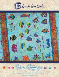 Lunch Box Quilts, LLC QPOCDD Ocean Odyssey Applique Pattern w/CD & Redemp Code