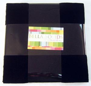 """Moda Bella Solids Layer Cake Black 9900LC 99, 42 identical 10"""" squares"""