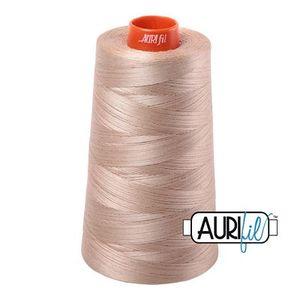 Aurifil A6050-2326 Mako Cotton Thread 50wt 6452yd Cone Sand