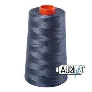Aurifil A6050-1158 Mako Cotton Thread 50wt 6452yd Cone Medium Grey
