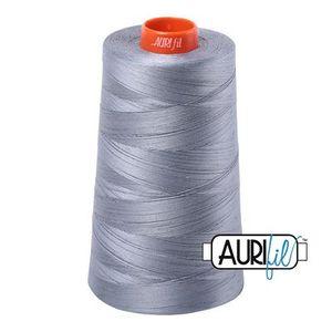 Aurifil A6050-2610 Mako Cotton Thread 50wt 6452yd Cone Light Blue Grey
