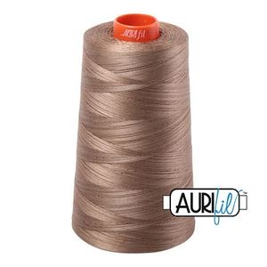 Aurifil A6050-2370 Mako Cotton Thread 50wt 6452yd Cone Dark Natural