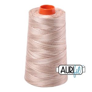 Aurifil A6050-4666 Mako Cotton Thread 50wt 6452yd Cone Biscotti