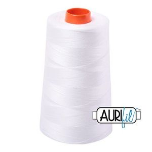 Aurifil A6050-2021 Mako Cotton Thread 50wt 6452yd Cone Natural White