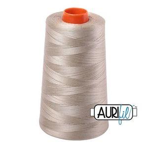 Aurifil A6050-2324 Mako Cotton Thread 50wt 6452yd Cone Stone