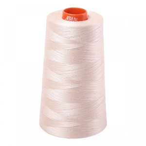 Aurifil A6050-2000 Mako Cotton Thread 50wt 6452yd Cone Light Sand