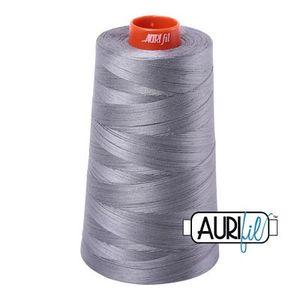 Aurifil A6050-2605 Mako Cotton Thread 50wt 6452yd Cone Grey