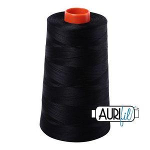 Aurifil A6050-2692 Mako Cotton Thread 50wt 6452yd Cone Black