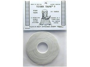 Tiger Tape 7978 1/4in Wide with 9 Lines (Stitches) per Inch, 30 Yards, A guide for evenly spaced stitches.