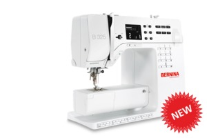 Bernina B325 Computer Sewing Machine, 97 Stitches w/Font, 1-Step Buttonhole, Needle Threader, Speed Limit Control, Ext Table, LED Lighting, 900SPM