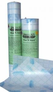 """7899: Floriani FWSG1210 Wet N Stick Adhesive Tearaway Embroidery Stabilizer 12"""" x10Yds"""