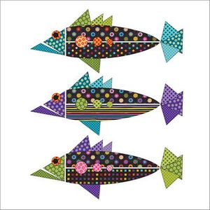 Urban Elementz UEA1209S Origami Fish Dotz Set-Applique