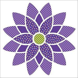 Urban Elementz UEA1188 Mandala Dotz Purple - Applique