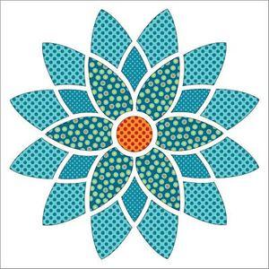 Urban Elementz UEA1189 Mandala Dotz Turquoise - Applique