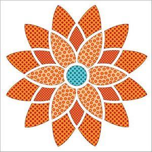 Urban Elementz UEA1190 Mandala Dotz Orange - Applique