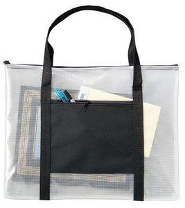 93381: Alvin ALNBH1013 Deluxe Mesh Tote Bag 10x13in, Zippe Top, Side Pocket