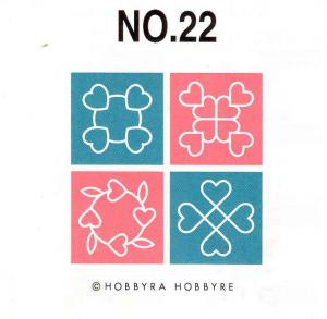 968: Brother SA322 No 22 Big Quilt Embroidery Designs Card for 4x4 5x7 Hoops
