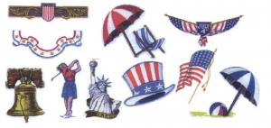 Balboa Threadworks 75M 4th of July / Summer 1 5x7 Embroidery Disks