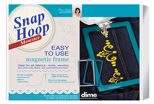 DIME Snap Hoop Monster SH00A10M, Magnetic Frames 9.5in X 9.5in Embroidery for Brother XP1, XV8500 Upgraded, and XV8550, Babylock Destiny, Solaris