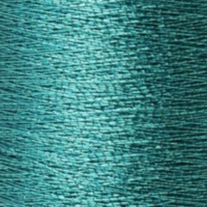 Yenmet Metallic 500m-Solid Turquoise 7022 Spool of Specialty Metallic Thread