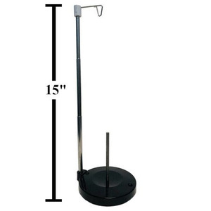 93650: AlphaSew 27449-ADJ Adjustable Height Single Cone Vertical Thread Stand, Metal Spool Pin Rod, Weighted Base