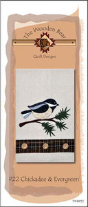 The Wooden Bear TWBP22, Chickadee & Evegreen, 6 applique patterns for a tea towels
