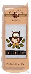 The Wooden Bear TWBP26, Little Hoot Owl, 6 applique patterns for a tea towels