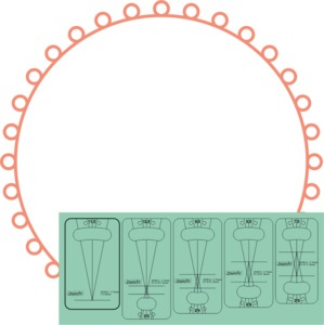 """93677: Sew Steady WT-SOPS5 Westalee Ruler Templates: Strand of Pearls 1/2"""" 5pc Set"""