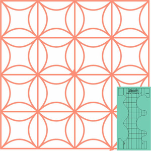 93682: Sew Steady WT-B2BS1 Westalee Ruler Templates: Design Back to Back Double Sided Circles 2pc Set