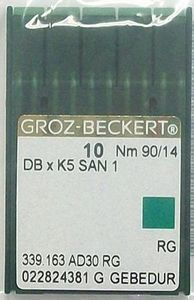 93724: Groz-Beckert DBXK5 GROZ-EMB14 Titanium Commercial Embroidery Machine Needles GB Emb Size 90/14