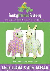 Funky Friends Factory FFF4668 Lloyd Llama Alice Alpaca