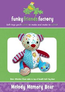 Funky Friends Factory FFF4644, Melody the Memory Bear, Teddy Bear Sewing Pattern