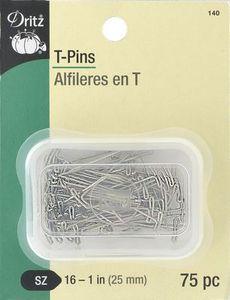 Dritz D140 T-Pins 1 inch 75 count