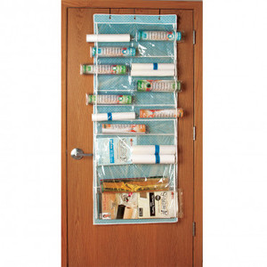 "93869: JHSODO Over the Door Stabilizer Roll Organizer Storage Bag, 63x24"" W"