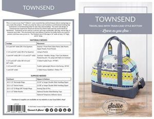 Sallie Tomato Townsend Travel Bag Pattern
