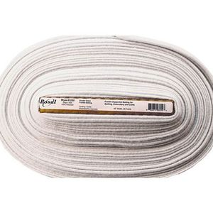 94064: Bosal BOS3250 Duet-Fuse Double Sided Fusible Quilt Batting 45in Wide x 25 Yard Bolt 100% Poly 7oz, Heavy Weight, Low Loft, Made in USA
