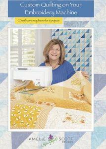 94073: Amelie Scott Designs ASD236 Custom Quilting Embroidery Machine Book CD