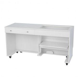 94107: Kangaroo II K8711 White Ash Sewing Machine Cabinet