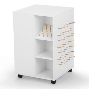 94109: Arrow 81100 Storage Cube White on 4 Casters, 4 Sided Shelves