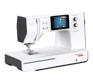 "Bernette, B77, 500 Stitches, Sewing, Quilting, Machine, 9""Arm, 12 Buttonholes, Bernina Touch Screen, IDFeed, 7mm Zig Zag"