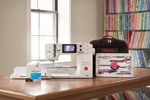Tula Pink, Bernina, 570QE, Special Edition, Sewing Machine, Quilting, Embroidery, Tula Pink Machine, Unicorn, Polka dot sewing machine