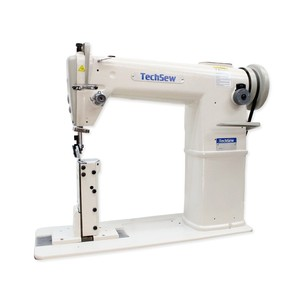 """TechSew GC 810 , 7""""Post Bed, Roller Foot, Bottom Feed, Leather Stitcher, Industrial Sewing Machine, KD knocked down unassembled Table Stand, Servo Motor, 1800 RPM, 3/8"""" foot Lift, 0-5mm SL stitch length,  Table, Stand, Motor"""