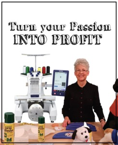 Turn your Embroidery Passion Into Profit Lecture Demo on Starting Your Own Business with Brother National Educator Paulette Bell