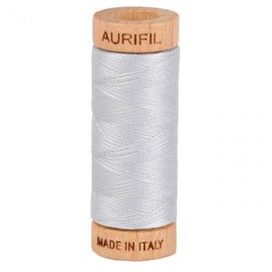 Stone Aurifil Mako 100/% Cotton 50wt Thread 3 Large 1422yd Spools: White 2024+2610+2324 Light Blue Grey